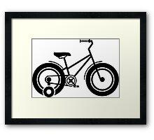 Training wheels Framed Print