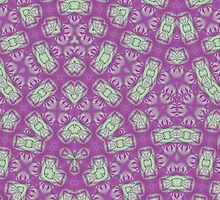 Purple trendy abstract pattern by ZierNor