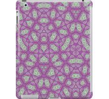 Purple trendy abstract pattern iPad Case/Skin