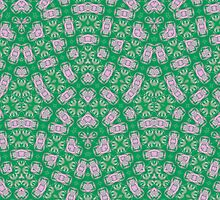 Green Modern Abstract Pattern by ZierNor