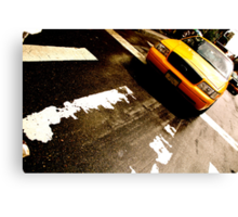Cab Crossing - NYC Canvas Print