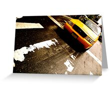 Cab Crossing - NYC Greeting Card