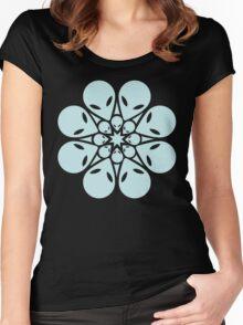 Alien / flower mandala Women's Fitted Scoop T-Shirt