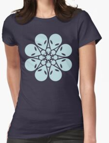 Alien / flower mandala Womens Fitted T-Shirt