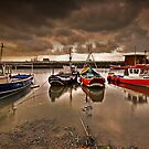 Fishing boats at Paddy's Hole by Phillip Dove
