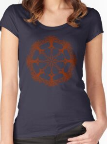 Hearthearth Tree Mandala Women's Fitted Scoop T-Shirt