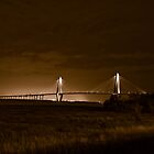 Arthur Ravenel Jr. Bridge Sepia Tone by Peter Van Egmond