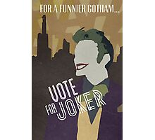 Vote For Joker Photographic Print