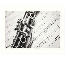 Monochrome Music Art Print