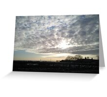 Sunset over Aberdeenshire Greeting Card