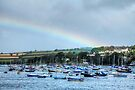 Rainbow Over Falmouth Harbour by Paul Thompson Photography