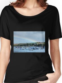 Rainbow Over Falmouth Harbour Women's Relaxed Fit T-Shirt