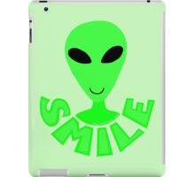 Happy Alien LGM Little Green Men SMILE! iPad Case/Skin