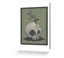 Skull Garden Greeting Card