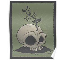 Skull Garden Poster