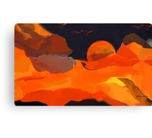 Burning -  Art + Products Design  Canvas Print