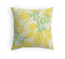 My lovely yellow. Throw Pillow