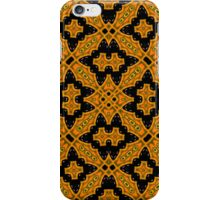 Abstract Pattern black orange iPhone Case/Skin
