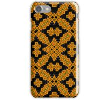 Abstract Pattern black orange iPhone Case/Skin