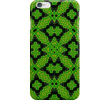 Abstract Pattern green black iPhone Case/Skin