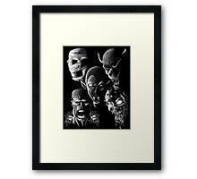 Monsters - Vampire, Werewolf, Zombie, Mummy and Frankenstein Framed Print