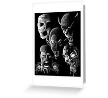Monsters - Vampire, Werewolf, Zombie, Mummy and Frankenstein Greeting Card