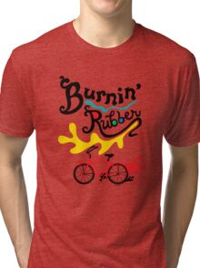 Burnin' Rubber  Tri-blend T-Shirt