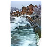 Winter at Hirst Mill. Poster