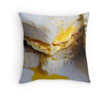 Egg & Sausage Sandwich Throw Pillow