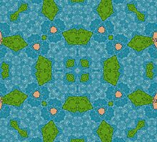 blue modern Abstract Pattern  by ZierNor