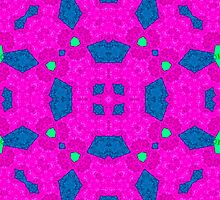 pink blue Abstract Pattern  by ZierNor