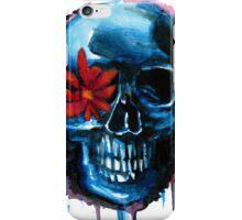 flower skull iPhone Case/Skin