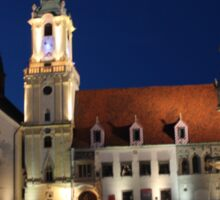 Old Town Hall by Night, Bratislava: Slovakia Sticker