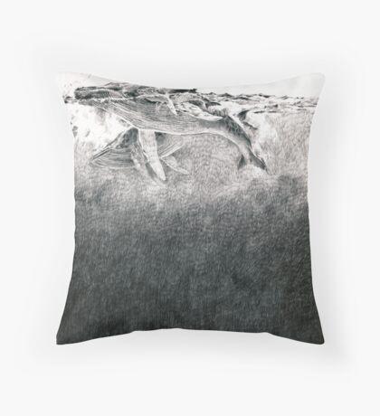 Humpbacks - surfacing Throw Pillow