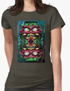 mirror demon Womens Fitted T-Shirt