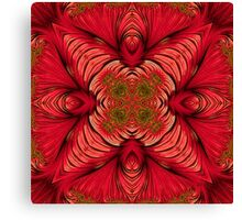 Red Fractal Star Canvas Print