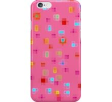 Sweet Squares, Pink iPhone Case/Skin