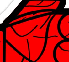I Like Red Sticker