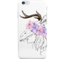 Deer woman iPhone Case/Skin