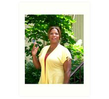 Queen Latifa on the set Art Print