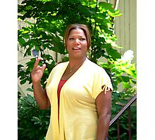 Queen Latifa on the set Photographic Print