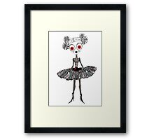 Gothic Rag Doll Framed Print