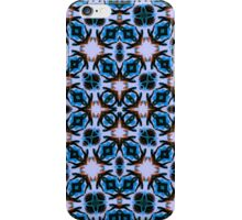 Blue abstract pattern iPhone Case/Skin