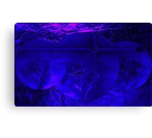 Wall Art Design- Deep Blue -  Art + Products Design  Canvas Print
