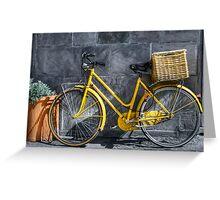 yellow bicycle Greeting Card