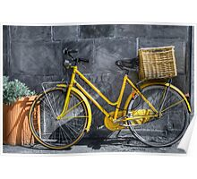 yellow bicycle Poster