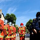 Cadets & Pompiers face the pride of the Navy  by MarcW