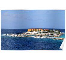 a desolate Curacao landscape Poster