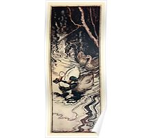 Snowdrop & Other Tales by Jacob Grimm art Arthur Rackham 1920 0077 The Ducks and the Key Poster