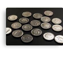 Coins - Fives Canvas Print